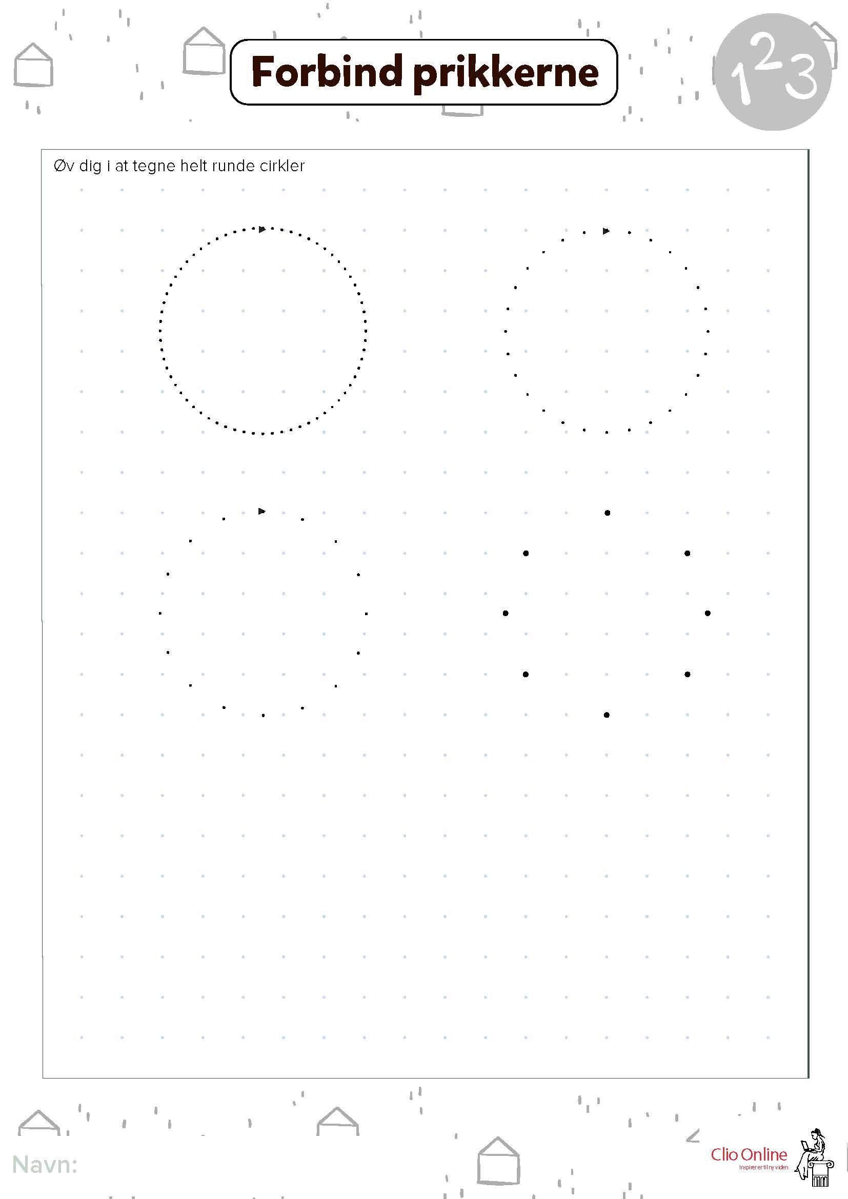 tegn fra prik til prik